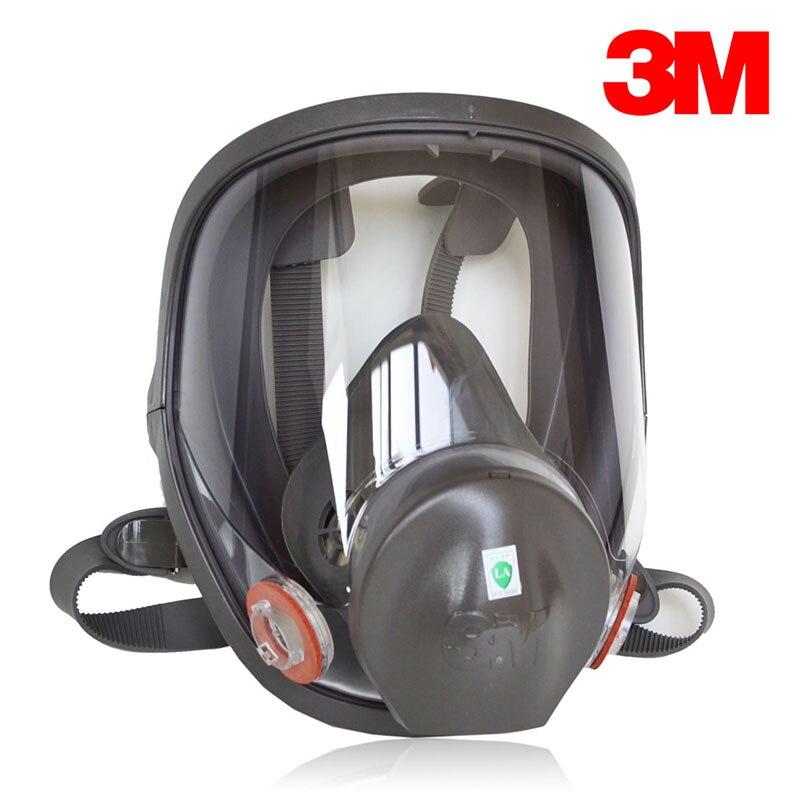 3 M 6800 respirateur peint unique masque facial complet masque de Protection contre LA vapeur réutilisable NIOSH & LA certifié M2056