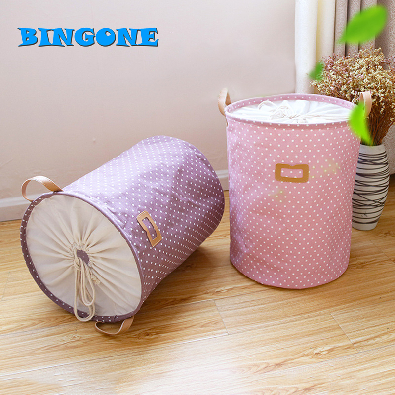 Clothes Organizer Bag Picnic Toy Storage Basket Laundry Basket Book Barrel Waterproof Hamper Bag Colorful Storage Baskets -TF
