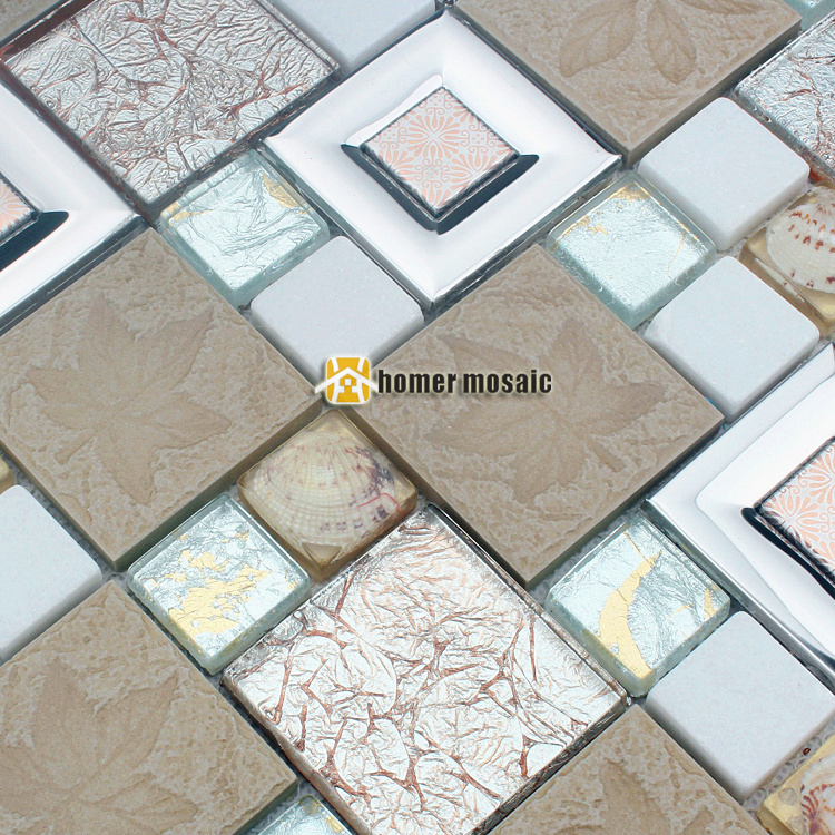 Mosaic Tile Inlays : Aliexpress buy d resin inlay shell mosaic tile