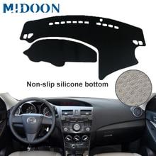 MIDOON pokrywa deski rozdzielczej samochodu dla Mazda 3 M3 BL 2009 2010 2011 2012 2013 samochodowa mata na deskę rozdzielczą deska rozdzielcza Pad dywanik anty uv antypoślizgowy