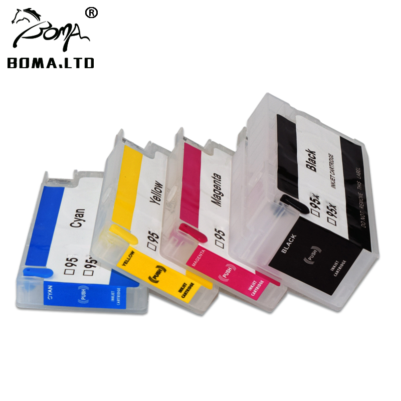 BOMA.LTD 955 955XL 959 Refill Cartridge For HP OfficeJet 8210 8216 8218 8720 8725 8728 8730 8745 Printer Show ink Auto Rese Chip t499 t504 refill ink cartridge for epson 10600 printer with show ink level resettable cartridge chip 850ml pc