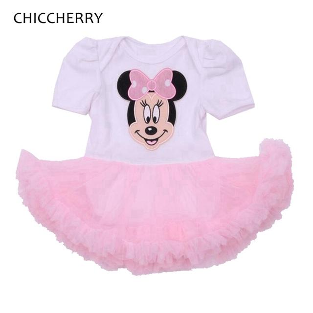 Fantasia Minnie 1 y 2 Año de Cumpleaños Vestido Del Bebé Recién Nacido Ropa de la muchacha Vestido Infantil Vestido de Novia Niñas Vestidos de Encaje de Verano 2016
