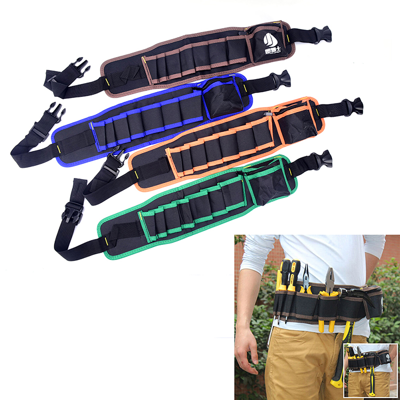 Tool Bags Steady Electricians Adjustable Waist Pocket Belt Tool Bag 4 Color Pouch Hammers Pliers Screwdriver Holder Storage Hand Repair Tool