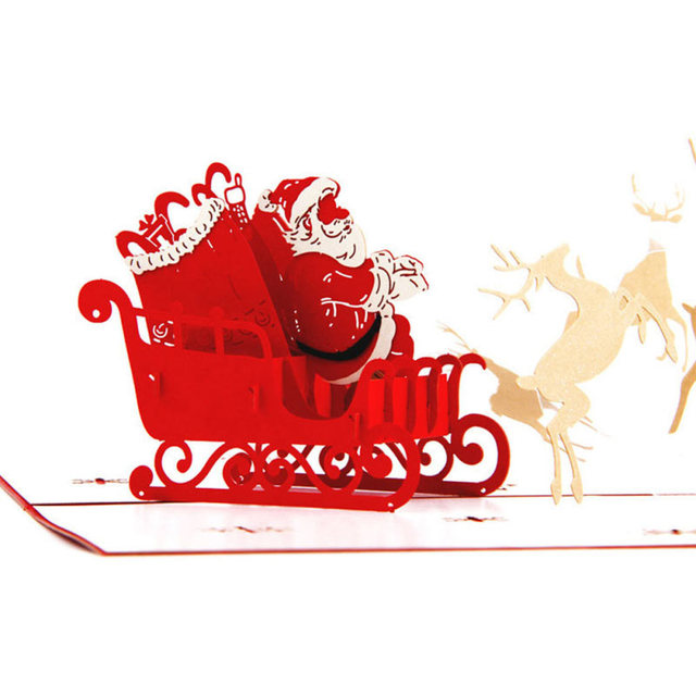 1pc 3d christmas dancing deer car greeting cards wedding invitation 1pc 3d christmas dancing deer car greeting cards wedding invitation card festival greeting kraft paper card stopboris Images