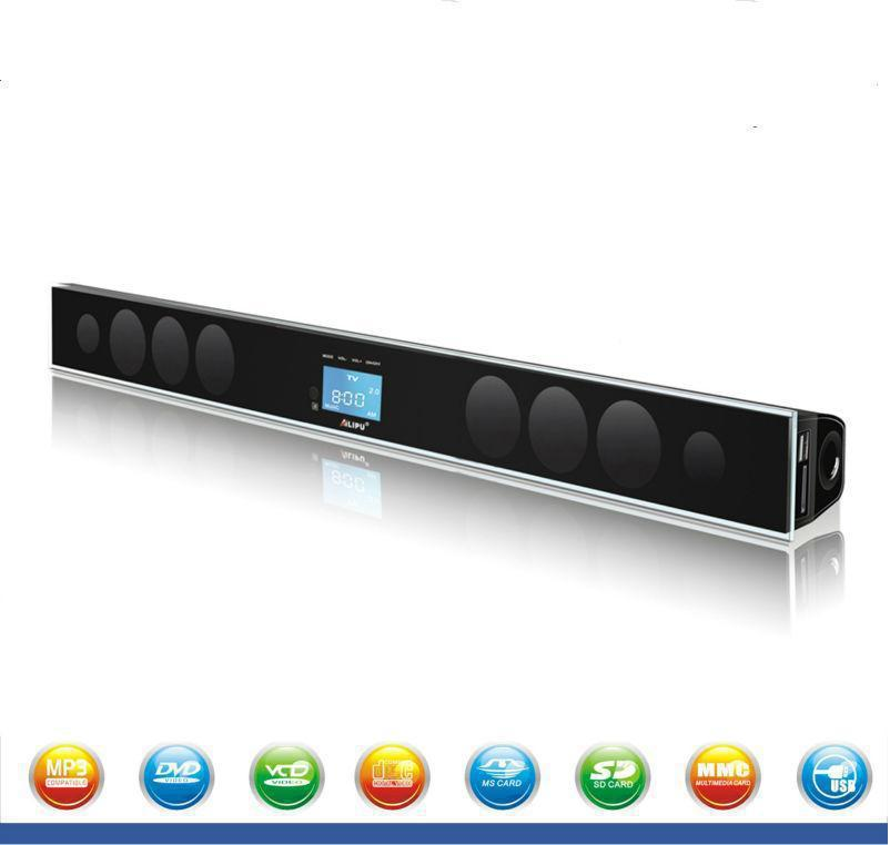 Wireless Home Theater System 3D Bluetooth Soundbar Speaker Built In subwoofer with USBSDFMAUXTVOPTICALCOAXIALTouch Screen