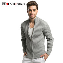 Holyrising Strickjacke Männer Casual Slim Fit Pullover 100% Baumwolle Strickwaren Thicked Vetement Homme 2018 Stehkragen Herren Knit 18363-5(China)