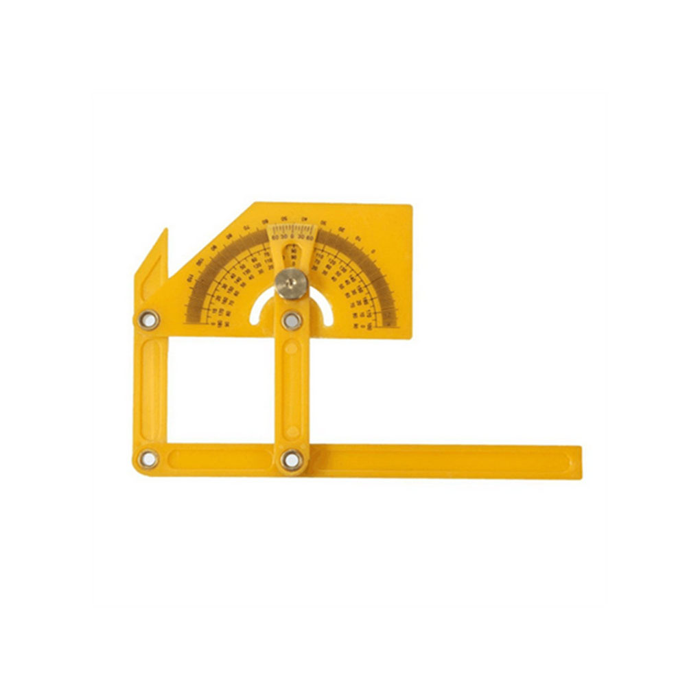 180 Degree Protractor Angle Finder Rotary Measuring Ruler Foldable for Craftsman Yellow180 Degree Protractor Angle Finder Rotary Measuring Ruler Foldable for Craftsman Yellow