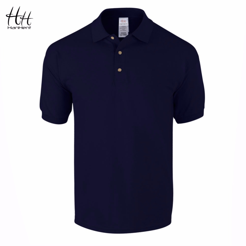 Hanhent business office polo shirt 2016 new brand men for Business casual polo shirt