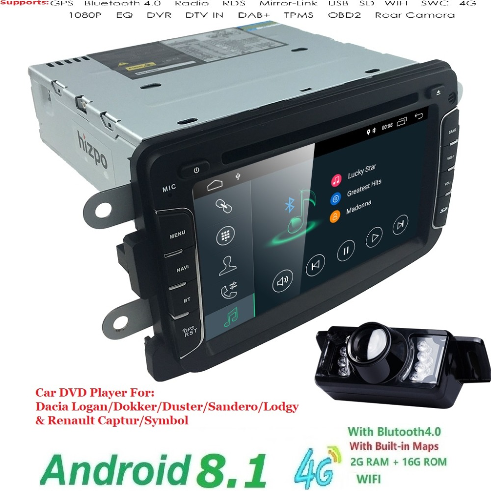 Android 8.1 Car DVD Player For Dacia Sandero Duster Renault Captur Lada Xray 2 Logan 2 RAM 4G WIFI GPS Navigation Radio SWC DAB+Android 8.1 Car DVD Player For Dacia Sandero Duster Renault Captur Lada Xray 2 Logan 2 RAM 4G WIFI GPS Navigation Radio SWC DAB+