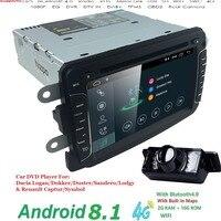 Android 8.1 Car DVD Player For Dacia Sandero Duster Renault Captur Lada Xray 2 Logan 2 RAM 4G WIFI GPS Navigation Radio SWC DAB+