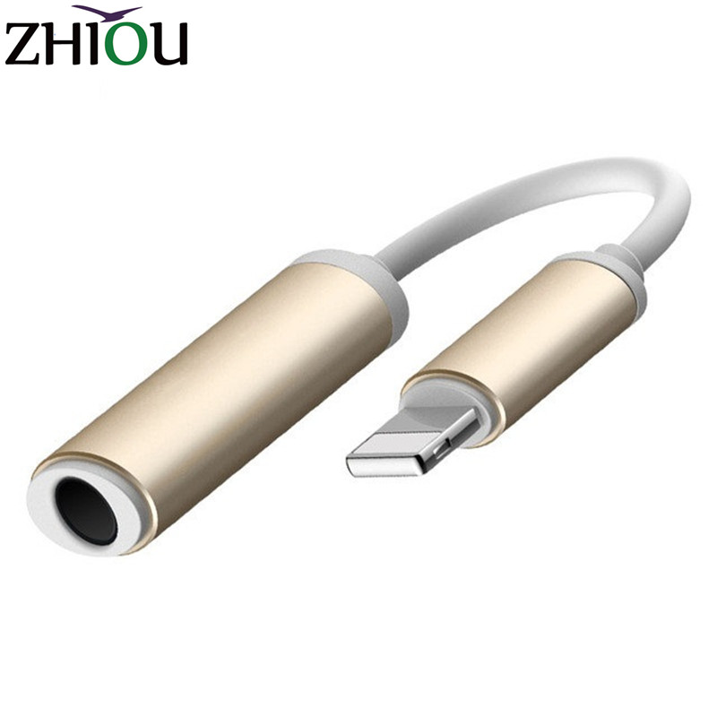 Lightning To 3 5mm Male: Zhiou Jack Adapter Earphone Headphone For IPhone 7 / 7