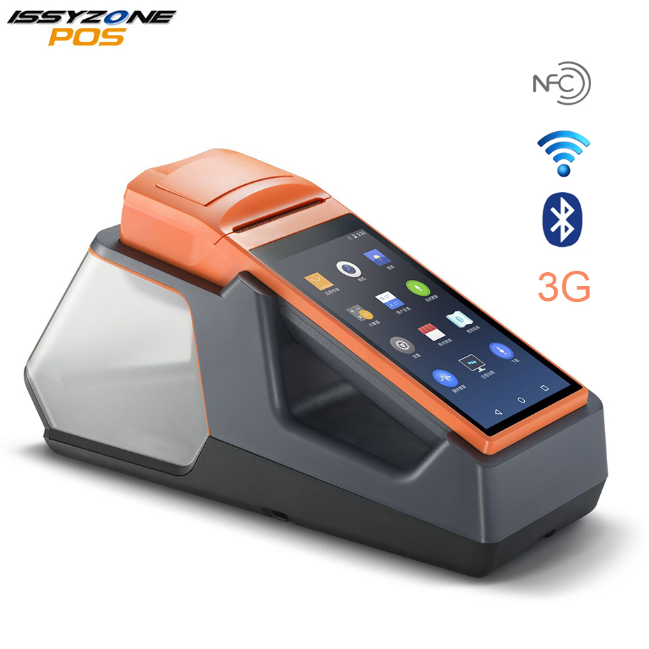 ISSYZONEPOS Android Handheld POS Terminal with Thermal Printer WIFI Bluetooth 3G NFC PDA Printing for Retail Food Shop Sunmi V1S цена 2017