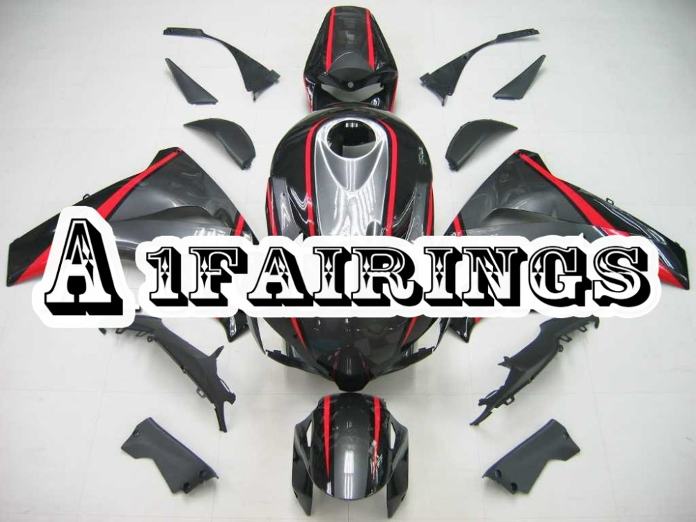 Panneaux pour Honda CBR1000RR 2008 2011 ABS carénages d'injection plastique Kits de carrosserie de moto CBR1000RR 08 11 bande rouge noir gris