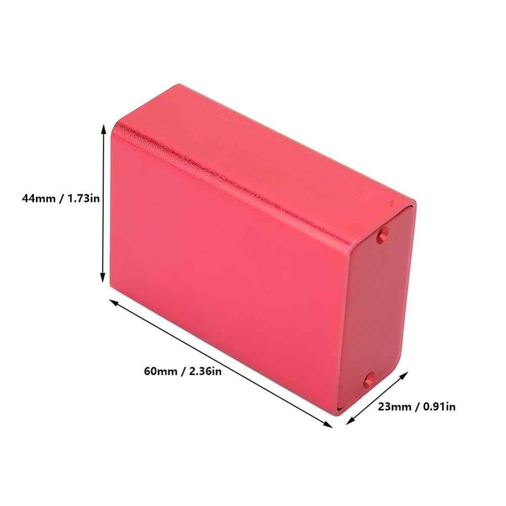 Geëxtrudeerd Aluminium Behuizing Pcb Instrument Elektronische Project Case Junction Box Diy Behuizing Frosted Rood 23X44X60 Mm