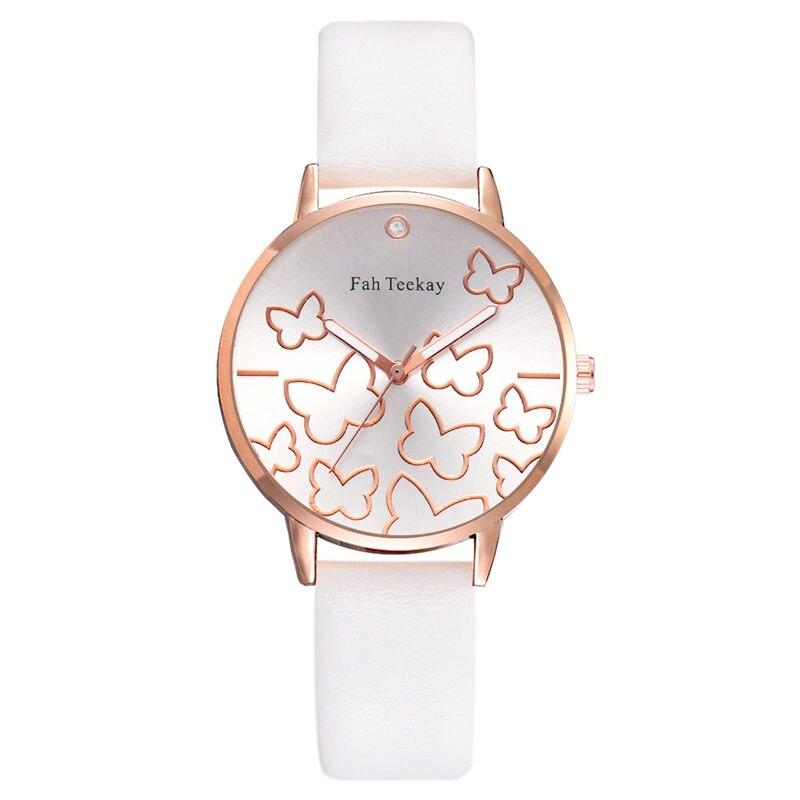 Montre Femme Printed Butterfly Fashion Design Ladies Quartz Watch  Leather Wristwatch Quality Casual Watch Women Zegarek Damski