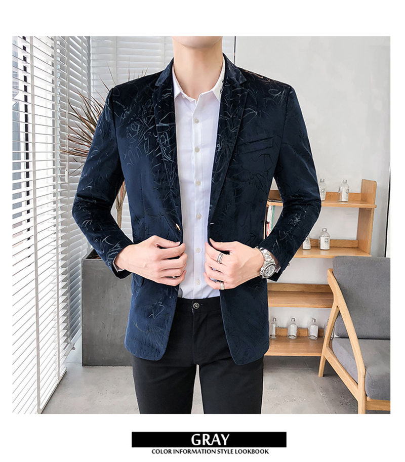 Blazer Masculino Slim Fit Casual Blazers Men Suits Wedding Blazer For Men (2)