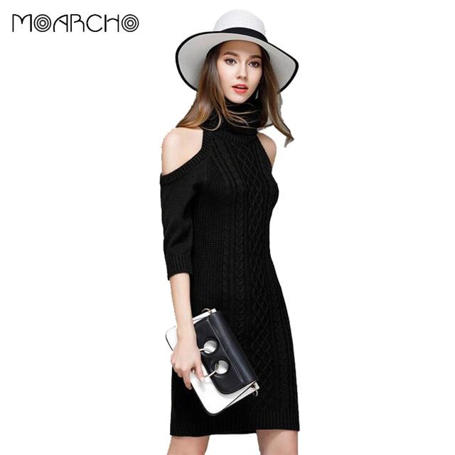 MOARCHO 2017 Fashion women half sleeve sweater sexy turtleneck ...