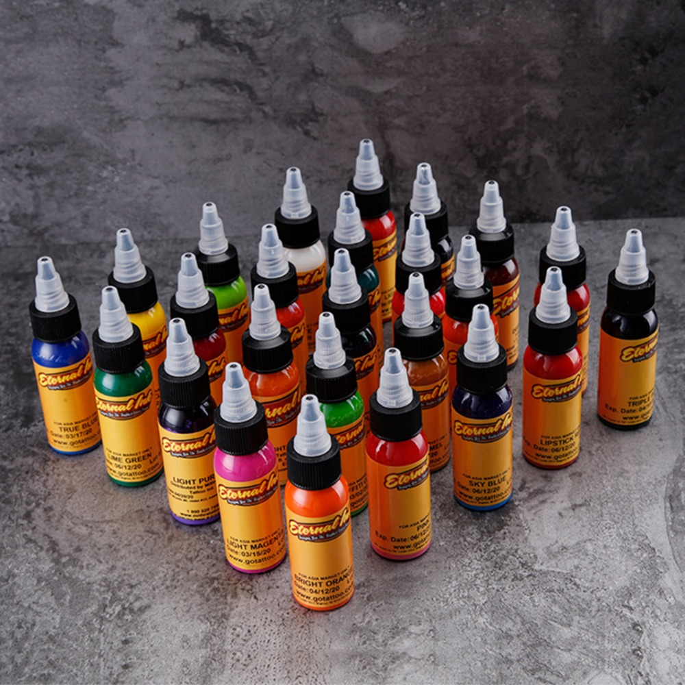 New 1 Color Tattoo Ink 1 Ounce 30 Ml / Bottle Eyebrow Tattoo Paint Set 3D Makeup Beauty Permanent Body Painting Tool Black