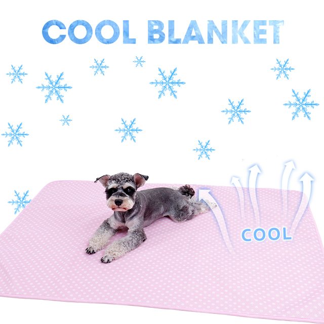 Self cooling Pet Blanket for Dog Cats Ultra Soft Breathable Sleep Pad Heat  Relief In Summer Material Snuggly Mat for All Seasan-in Houses, Kennels &