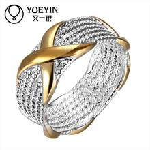 Hollow design Wholesale silver plated wedding rings for women engagement Bridal jewelry Classic anillos mujer for mother(China)