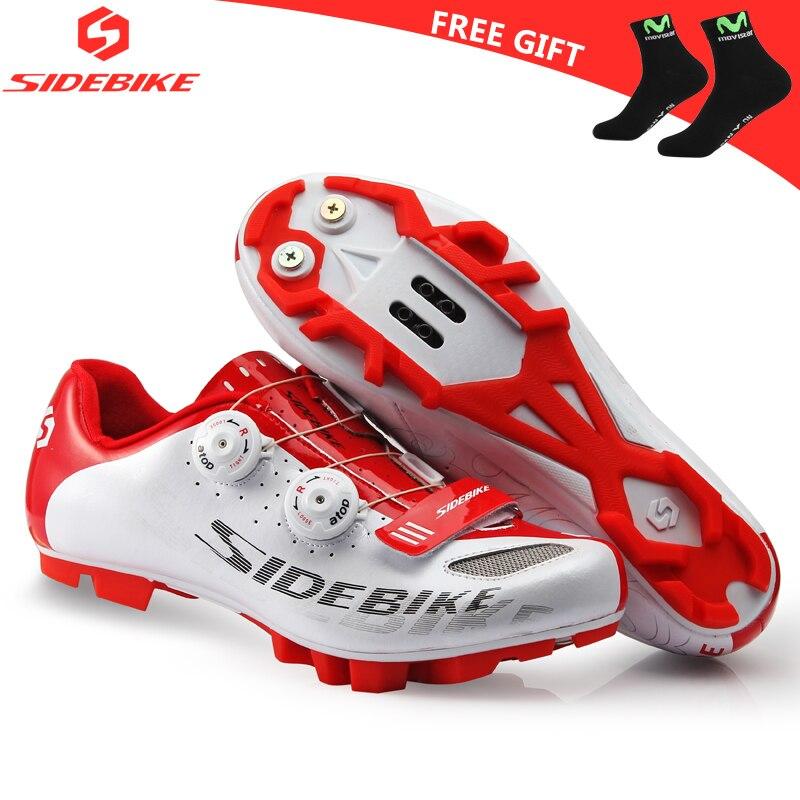 Кроссовки мужские для горного велосипеда, с нейлоновой подошвой