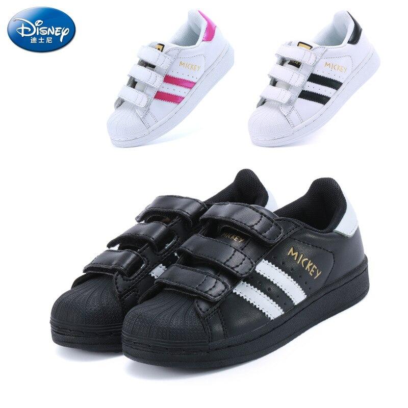 disney criancas sapatos esportivos 2018 outono novos meninos concha cabeca sapatos meninas antiderrapante sapatos brancos pai