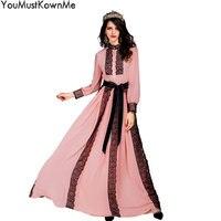 Youmustknowme женщина длинное платье 2018 Весна осень фонарь рукав трапециевидной формы, винтажные элегантные длинные платья для вечера