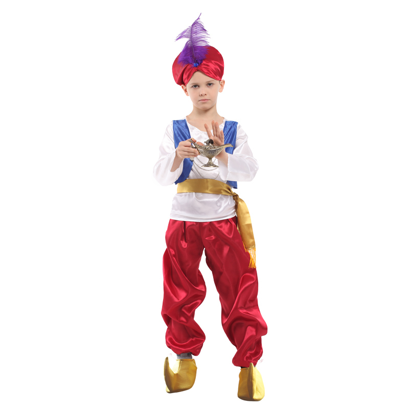 kids Children halloween party aladdin costumes Aladdin L& genie costume Adam prince Fantasia Arab Clothing child  sc 1 st  AliExpress.com & kids Children halloween party aladdin costumes Aladdin Lamp genie ...