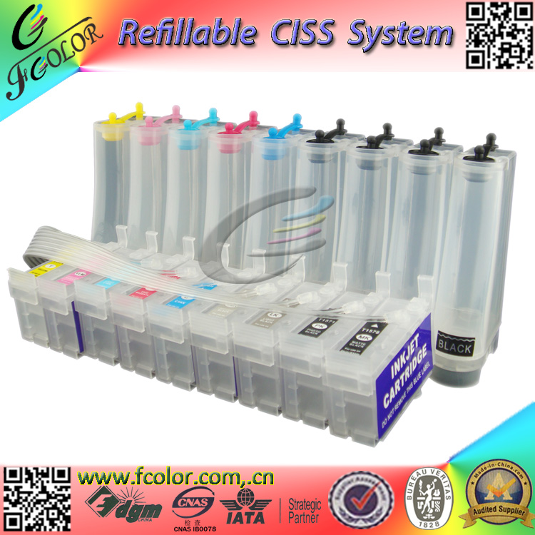 200ml Bulk CISS for P600 Use T7601-9 Ink System for P600 Printer ink System ciss ink system for epson sure color p600 continuous ink tank for epson t7601 t7609