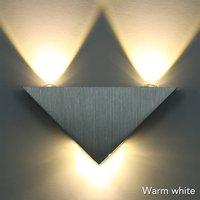 الحديثة أدى الجدار مصباح بسيط 3 واط الألومنيوم هيئة مثلث الحمام الجدار ضوء لغرفة النوم الرئيسية الإضاءة الإنارة الإضاءة جدار