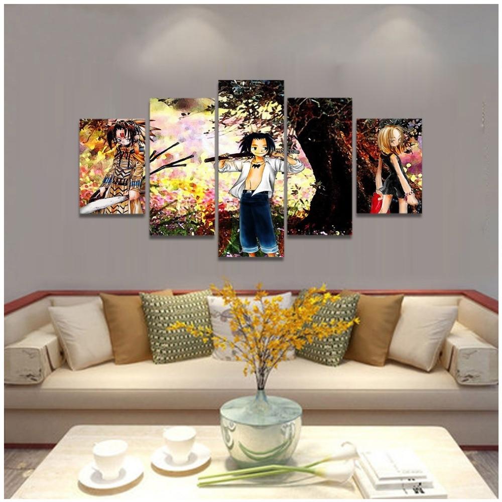 Anime Magie Schamanen König Leinwand Kunstdruck Malerei Poster, Wand Bilder  Für Kinder Schlafzimmer Dekoration, Wand Dekor