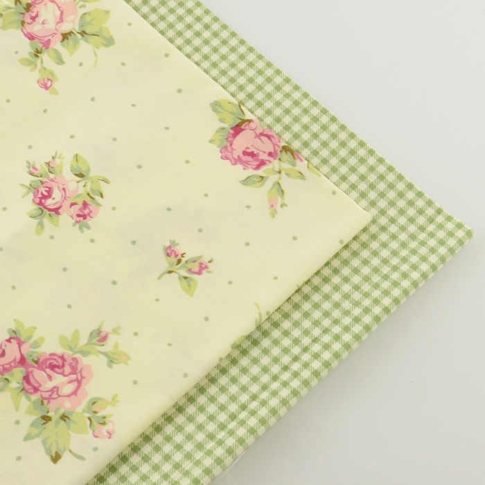 2 шт., розовая клетка 40 см x 50 см, хлопковая ткань, швейный материал, ткань Tecido tida, Лоскутные ткани, стеганое постельное белье, домашний текстиль