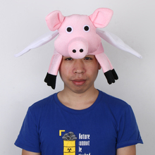 Adults Kids Fly Pig Hat Christmas Birthday Party Cap Cosplay Costume Props Lovely 3D Design