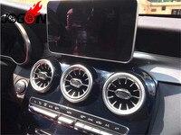 Аксессуары автомобиля Turbo стиль центральной консоли вентиляционное отверстие отделкой для BENZ C GLC класса W205 X253 2015 2016 2017 2019 2018 стайлинга автом