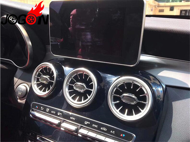Accesorios coche Turbo estilo consola Central de ventilación de aire Trim para BENZ C GLC clase W205 X253 2015, 2016, 2017, 2018 2019 estilo de coche