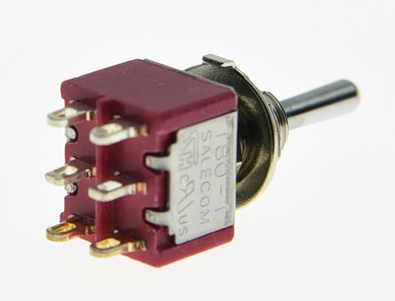 KAISH 3x DPDT 6 Pin 3 Way ON/ON/ON Gitarre Mini kippschalter SALECOM ...