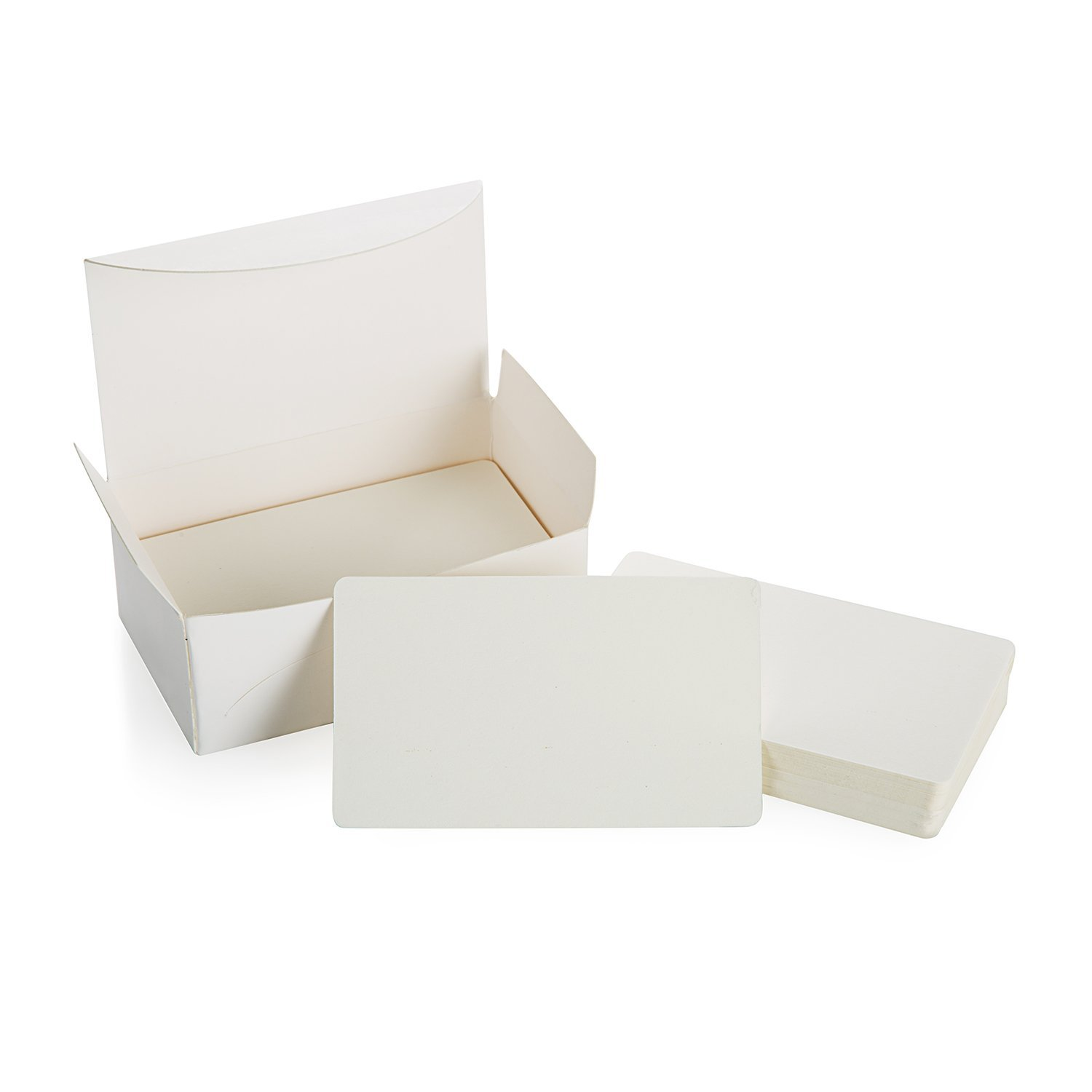 PPYY NEW -Blank White Cardboard paper Message Card Business Cards Word Card DIY Tag Gift Card About 100pcs (White) image
