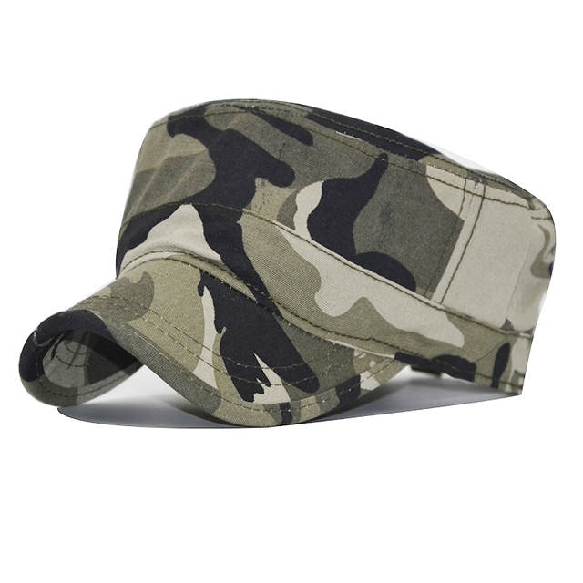 61fd61a10 US $5.73 45% OFF 2018 New Camouflage Flat Top Mens Women Caps Hat  Adjustable Casual Military Hats for Men Snapback Cadet Military Patrol Camo  Hat-in ...