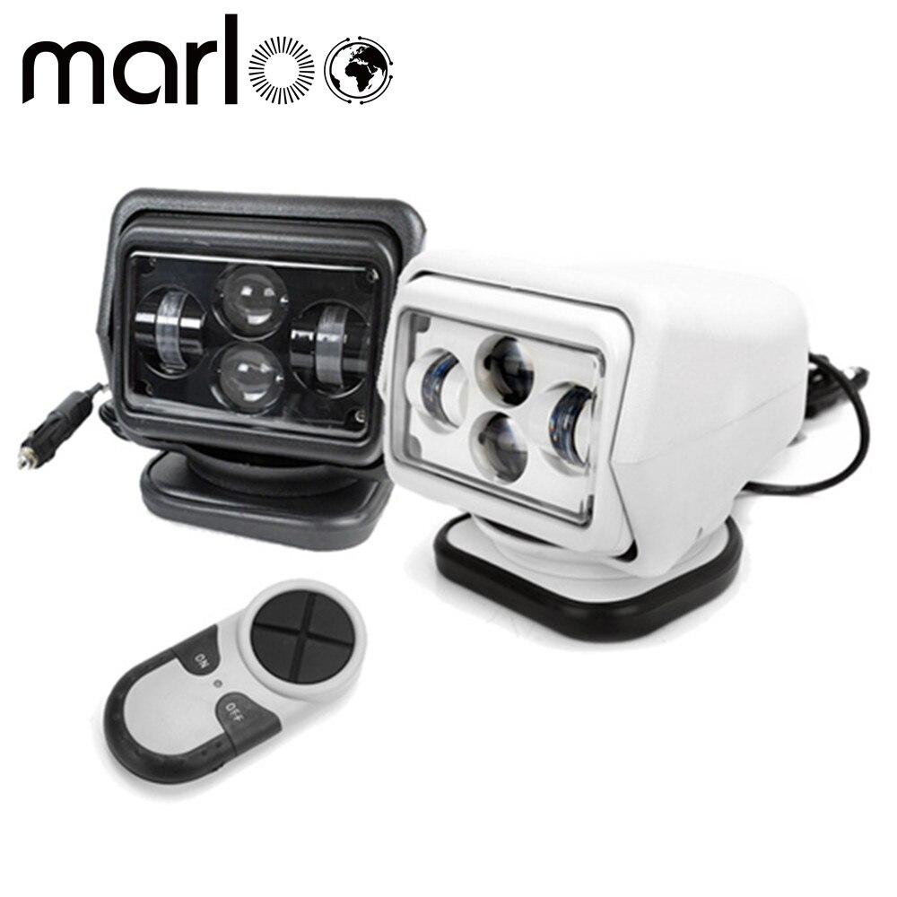 Marloo 7 дюймов дистанционного Управление 4D поиск привел свет 360 градусов 60 Вт морской прожектор пятно света лодки автомобиль off road 12 В 24 В
