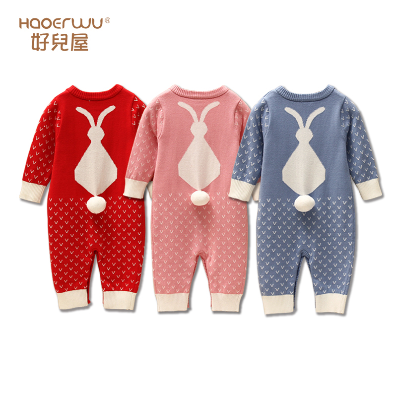 New 2016 autumn winter baby clothes children sweaters jumpsuits baby boys and girls Rompers kids long sleeve Knitting creepers autumn winter baby hats new fashion children warm ball hat double color boys and girls cotton caps beanies baby knitted hat