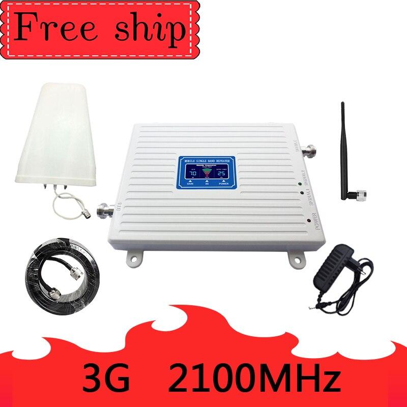 WCDMA 3g 2100 bande de répéteur de signal cellulaire 1 2100 MHZ booster 2100 MHZ antenne de fouet amplificateur de signal cellulaire