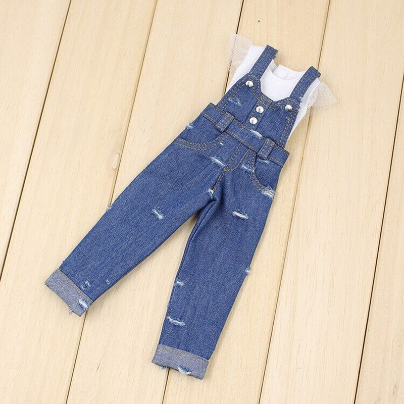 Doll Clothes For 1/6 Blyth Accessories 12 Inch Strap Jeans Choosing Suitable For Joint Reborn ...
