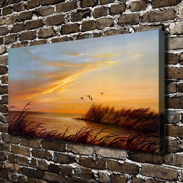 A0290 Lynn R. Kaatz Sunset Point Landscape.HD Canvas Print Home Decoration  Living Room