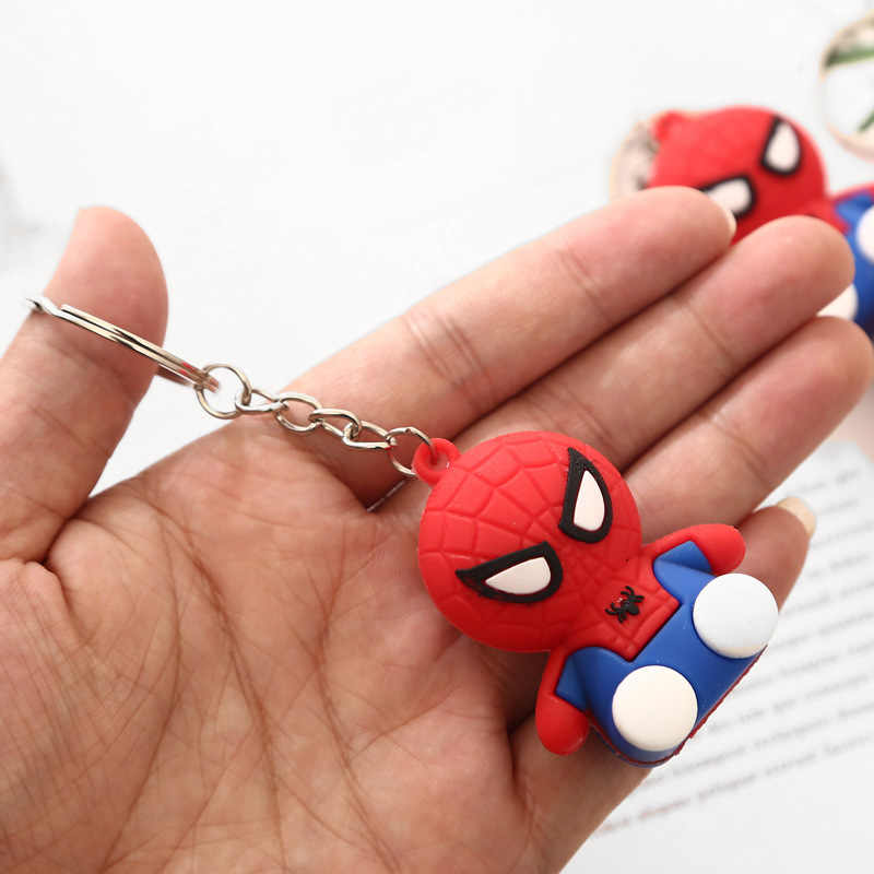 Marvel Avengers Người Nhện Móc Khóa Dành Cho Nam Và Nữ 3D Hình Nhân Vật Hoạt Hình PVC Dễ Thương Dẻo Silicone Cho cả Trẻ Em Móc Khóa
