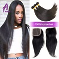 Brazilian Virgin Hair Straight With Closure 8a Grade Virgin Unprocessed Human Hair With Closure Cheap Bundles With Closures Lot