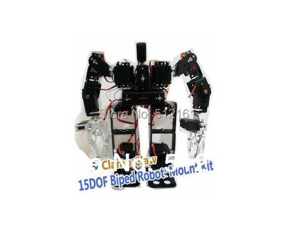 Alum 15DOF Biped Robot Frame Kit & Alloy Clamp Claw Mount for Arduino Walk Dance otto for arduino for nano rc robot open source maker obstacle avoidance walk dance diy humanity playmate 3d toys assemble models