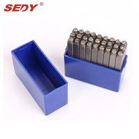 SEDY Letter 27pc Stamp Punch Set Hardened Steal 3mm Hand Tool Professional Tool