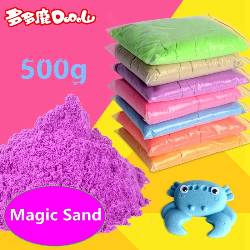 DoDoLu 500g Kids Play Sand Dynamic Artificial Colored Baby Space Sand Children Indoor Funny Toy DIY Educational Toys Hot sale