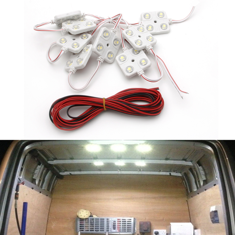 Imported From Abroad 40 Led 5050 Waterproof Truck/cargo White Bed Lighting Light Kit For Dc 12v Van Automobiles & Motorcycles