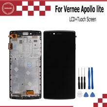ocolor for  Vernee Apollo Lite Apollo X LCD Display+Touch Screen With Frame  Screen Digitizer Assembly Repair Parts+Toos